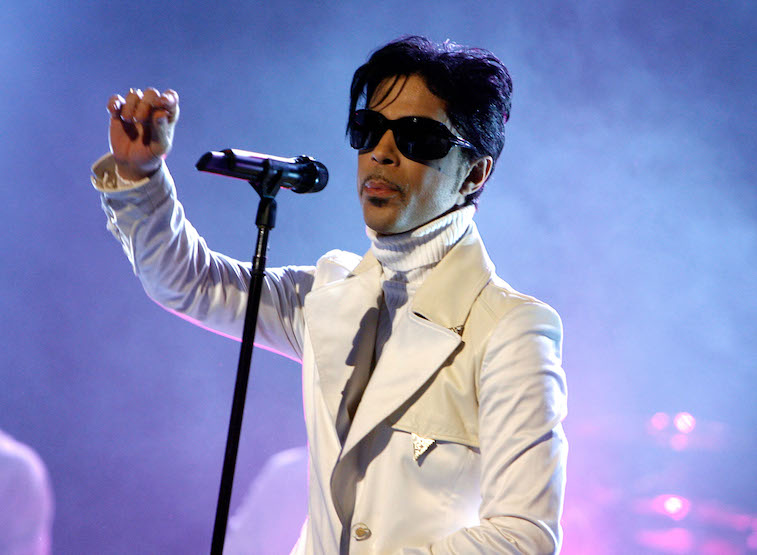 Prince performs onstage
