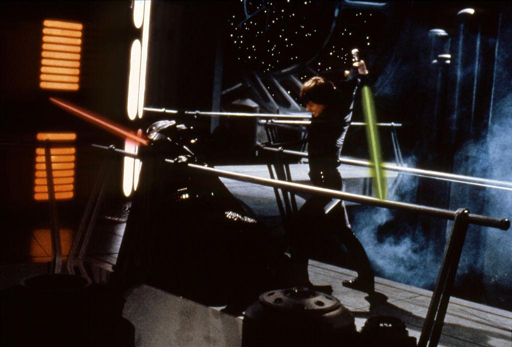 Darth Vader and Luke Skywalker face off in 'Star Wars: Episode VI - Return of the Jedi.'