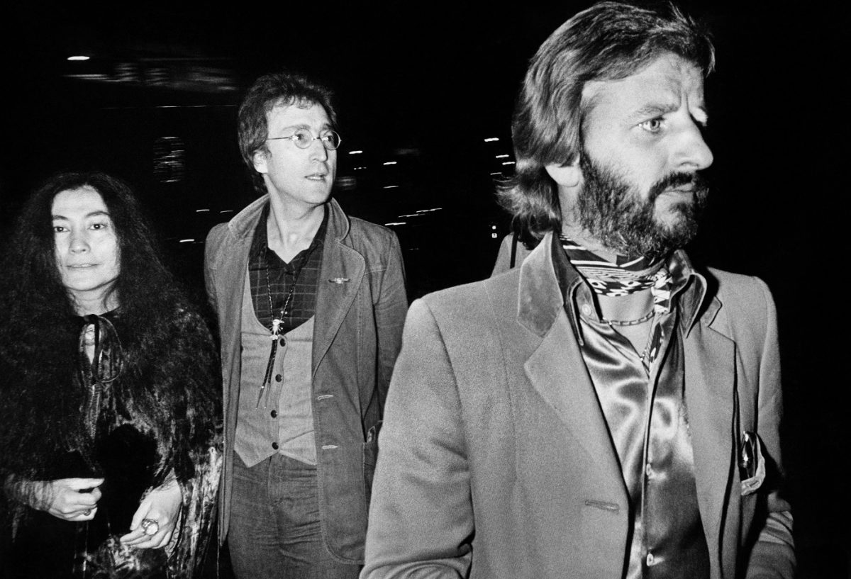 Yoko Ono, John Lennon and Ringo Starr in the '70s