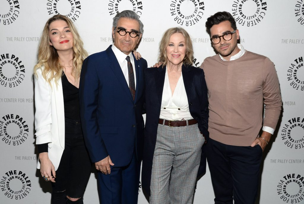 """'Schitt's Creek' stars Annie Murphy, Eugene Levy, Catherine O'Hara, and Daniel Levy attend The Paley Center For Media Presents An Evening With """"Schitt's Creek"""""""