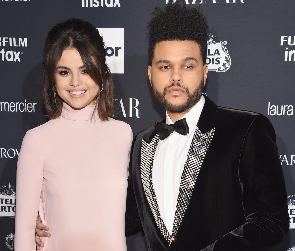 Selena Gomez (L) and The Weeknd on September 8, 2017 in New York City.