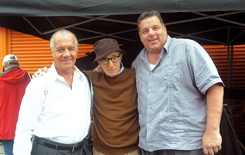 Tony Sirico and Steve Schirripa pose with Woody Allen