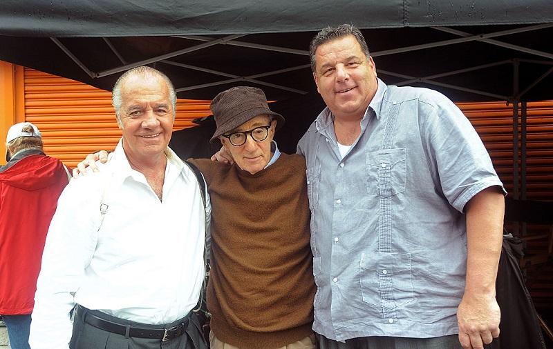 Tony Sirico and Steve Schirripa pose with Woody Allen