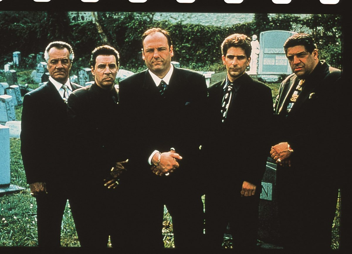 'Sopranos' cast posed at Jersey City cemetery