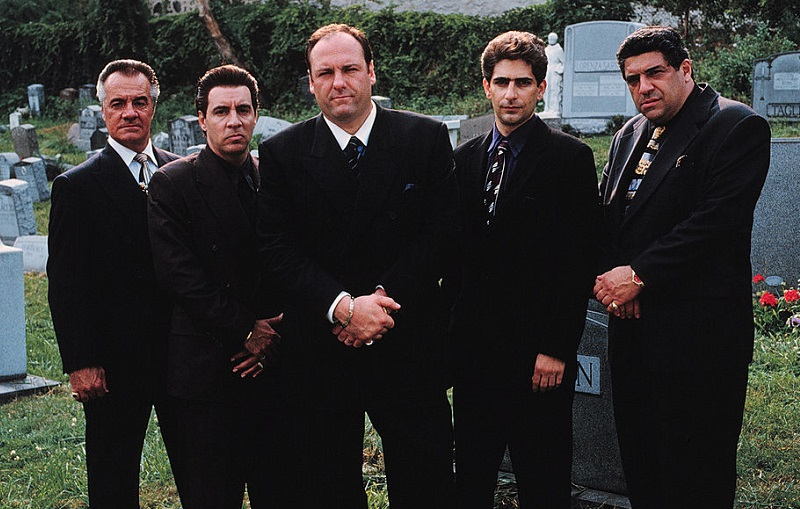 'Sopranos' cast at a Jersey City cemetery