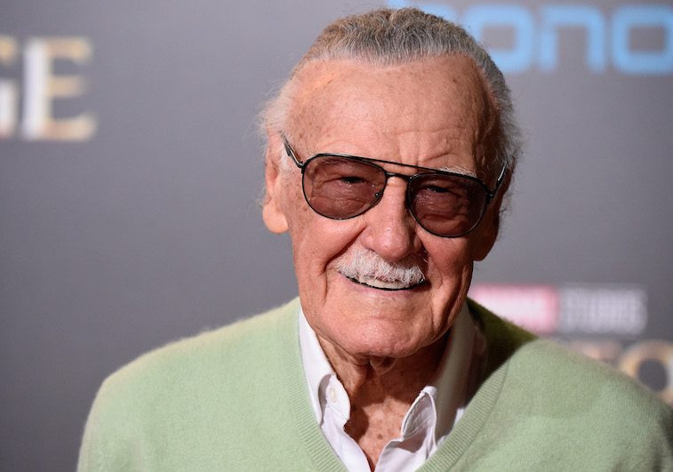 Stan Lee on the red carpet