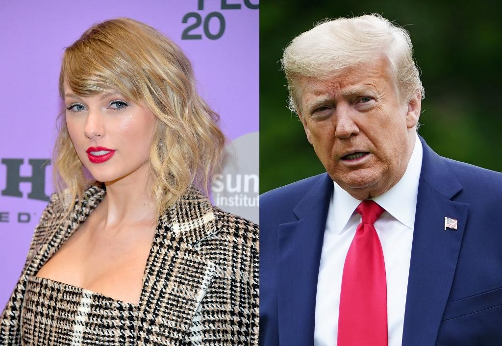Taylor Swift Donald Trump composite image