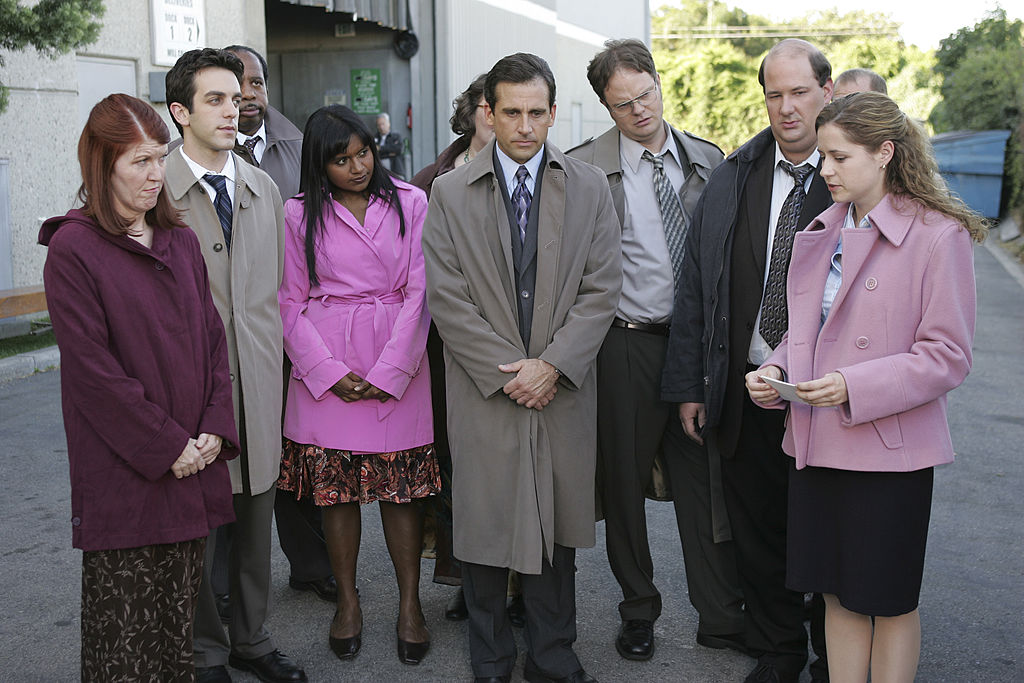 'The Office' cast during season 3 Grief Counseling episode