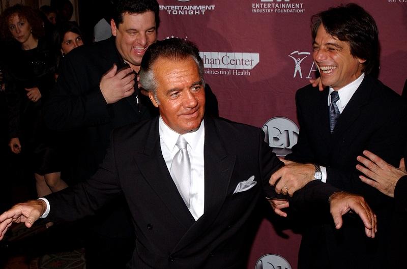 Tony Sirico and 'Sopranos' co-stars in 2002