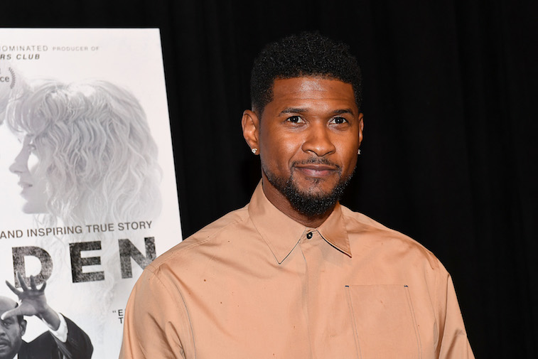 Usher on the red carpet