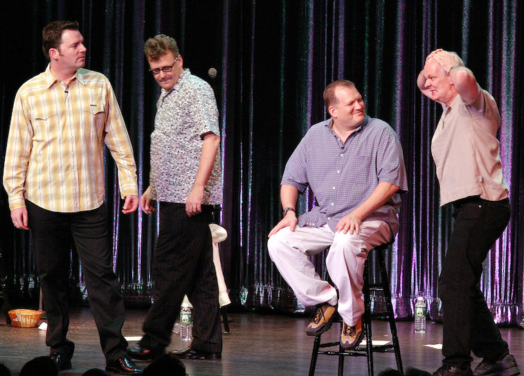Brad Sherwood, Greg Proops, Drew Carey and Colin Mochrie
