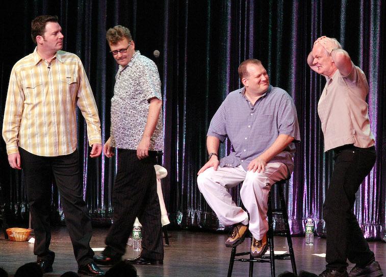 Brad Sherwood, Greg Proops, Drew Carey and Colin Mochrie
