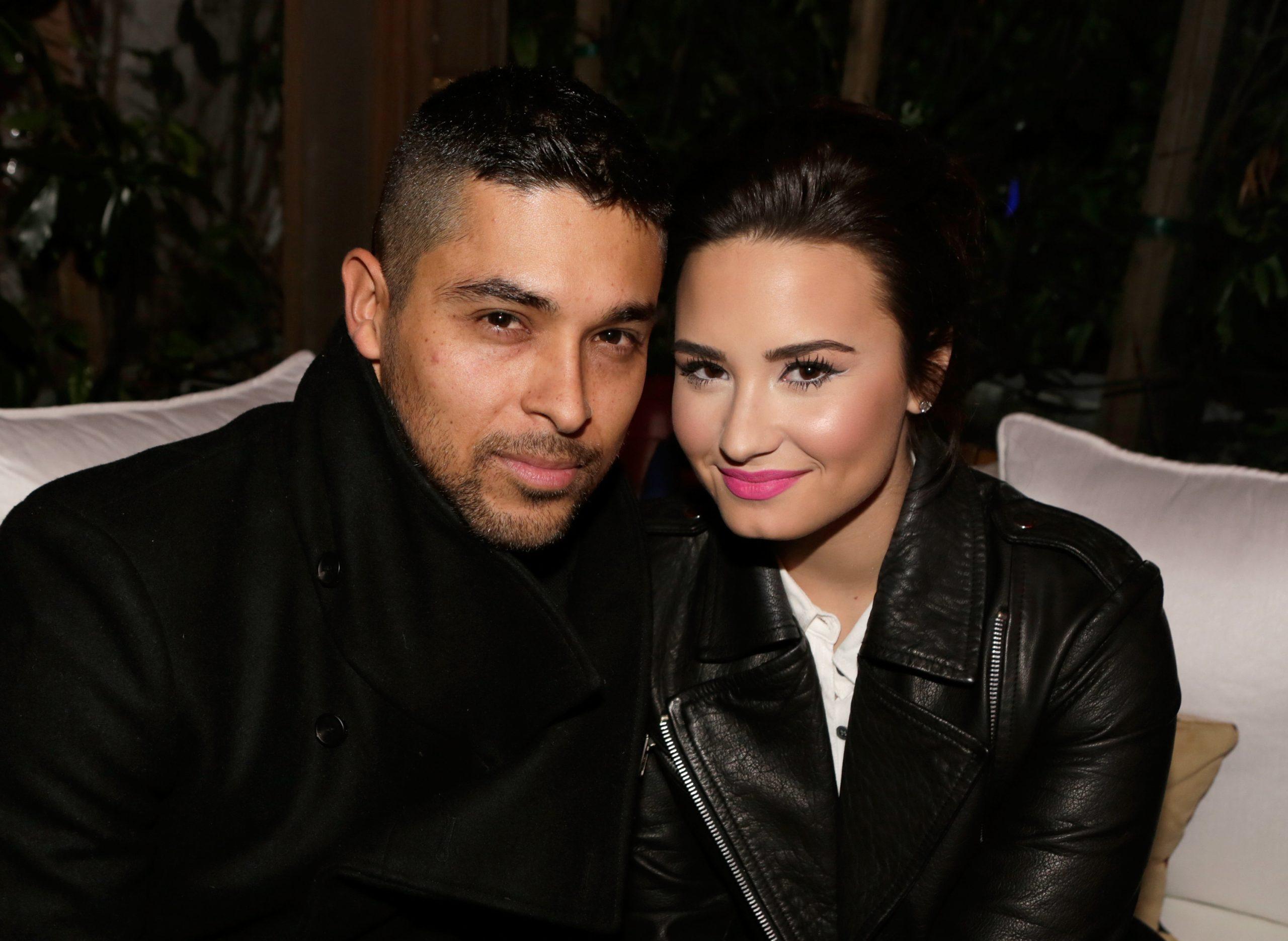 Actor Wilmer Valderrama (L) and singer Demi Lovato on February 13, 2013