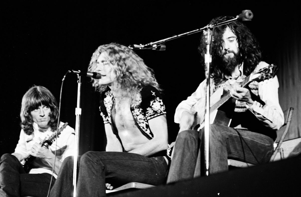 Led Zeppelin performs in 1971