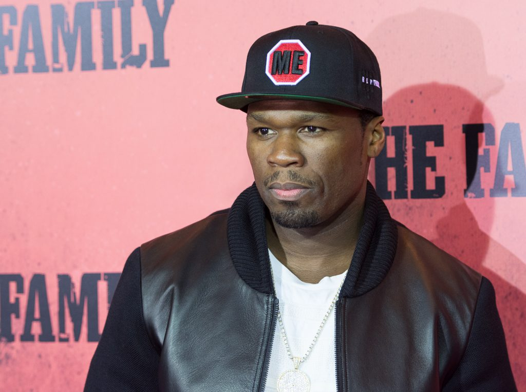 50 Cent wearing a hat