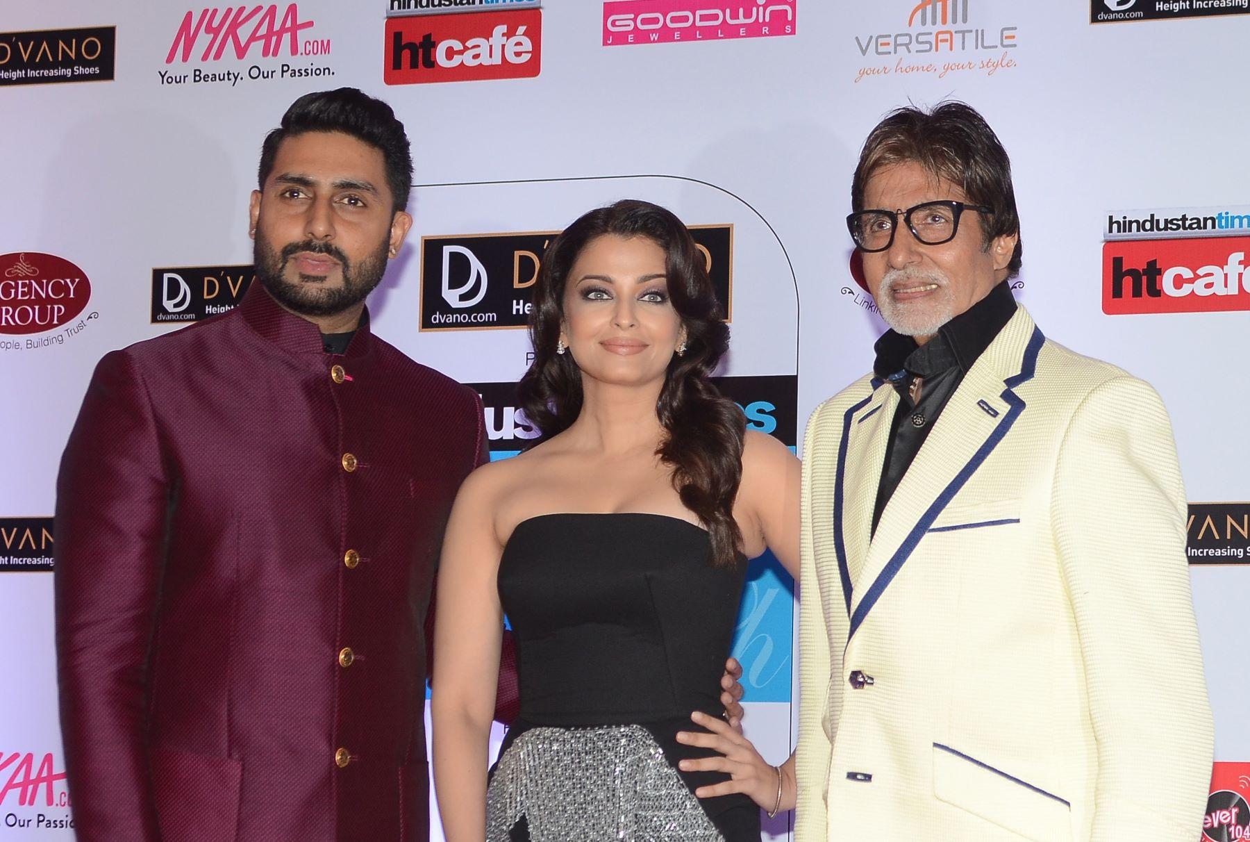 Abhishek, Aishwarya, and Amitabh Bachan