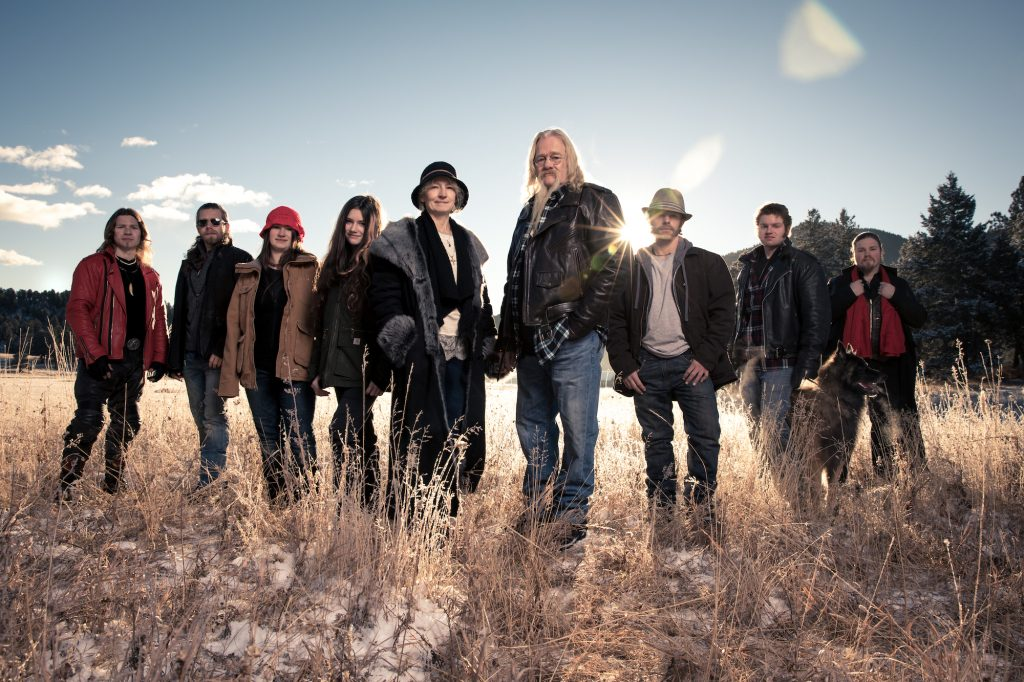 The Brown family from 'Alaskan Bush People' standing in a field