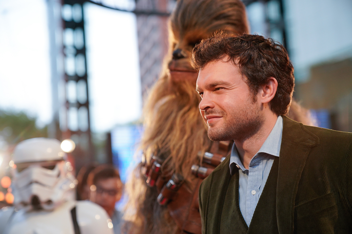 Alden Ehrenreich at the 'Solo: A Star Wars Story' premiere