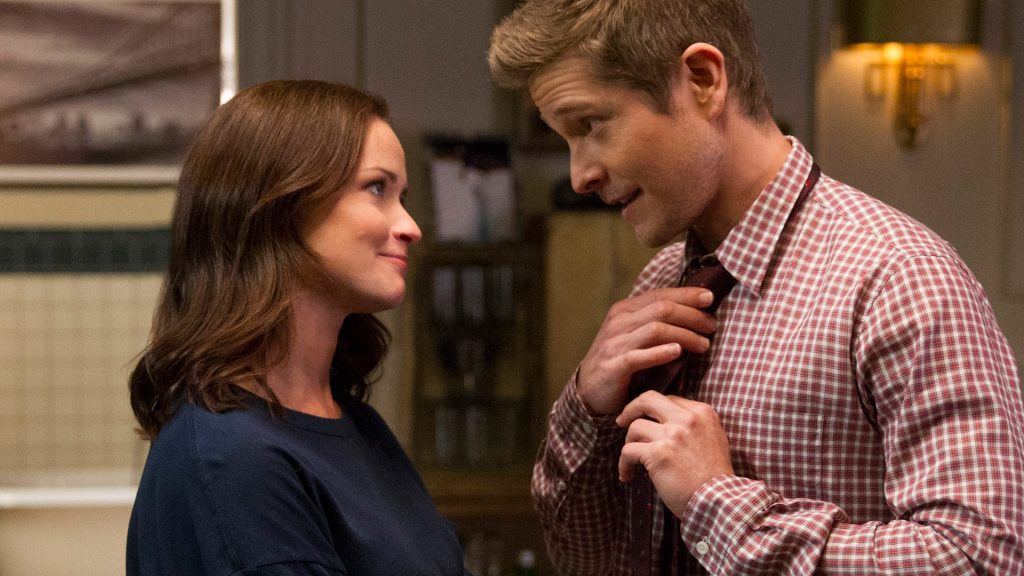 Alexis Bledel as Rory Gilmore and Matt Czuchry as Logan Huntzberger on 'Gilmore Girls: A Year in the Life'