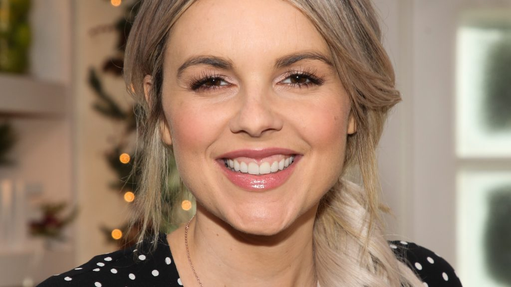 """'The Bachelorette' star Ali Fedotowsky-Manno on the set of Hallmark Channel's """"Home & Family"""" at Universal Studios Hollywood on October 29, 2019 in Universal City, California."""
