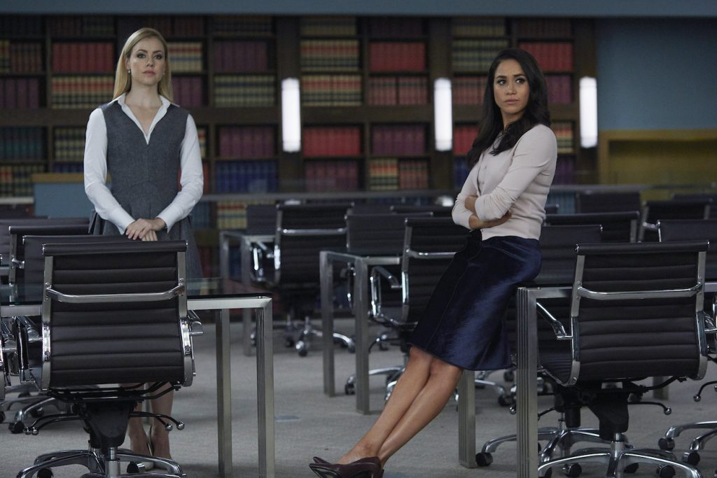 Amanda Schull and Meghan Markle in 'Suits'