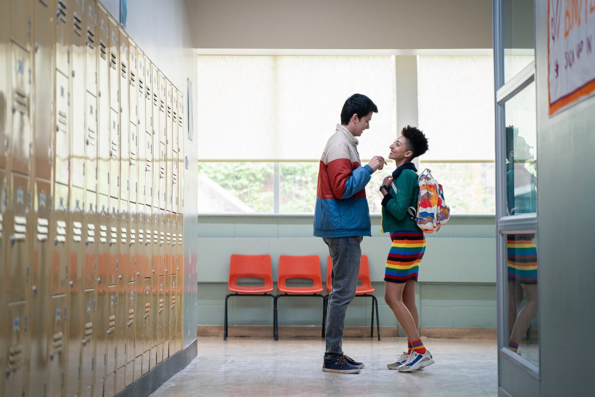 Asa Butterfield and Patricia Allison in 'Sex Education'