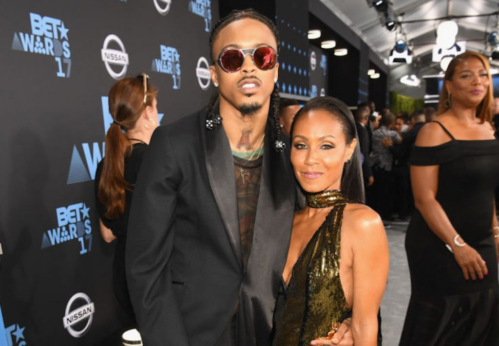 August Alsina and Jada Pinkett Smith at an award show