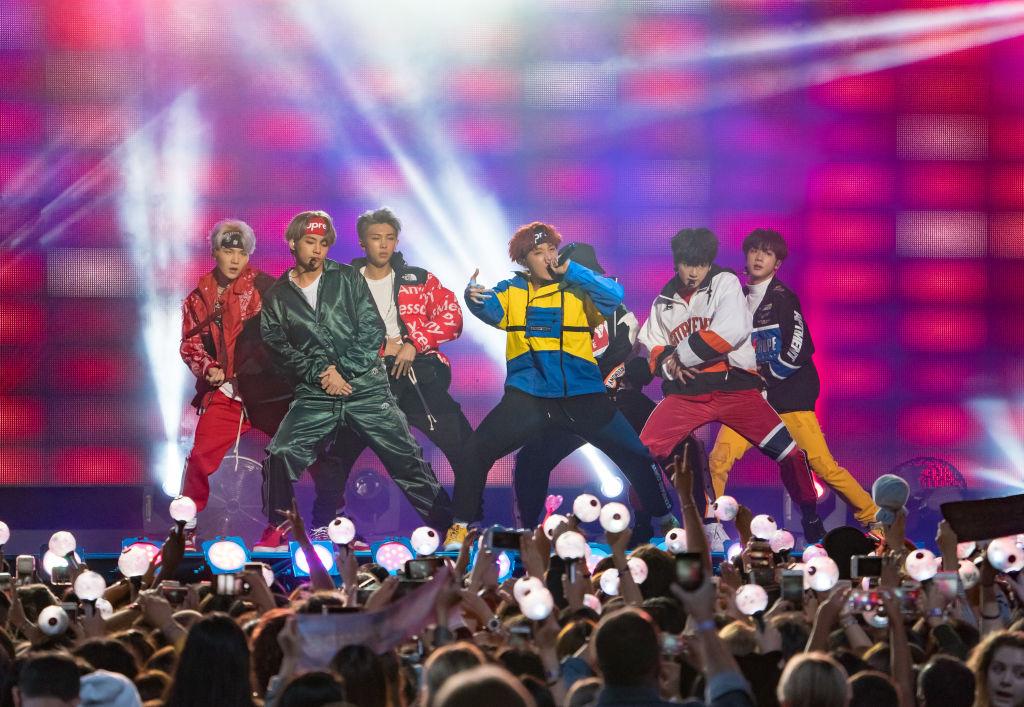 Korean K-pop band 'BTS' are seen at 'Jimmy Kimmel Live'