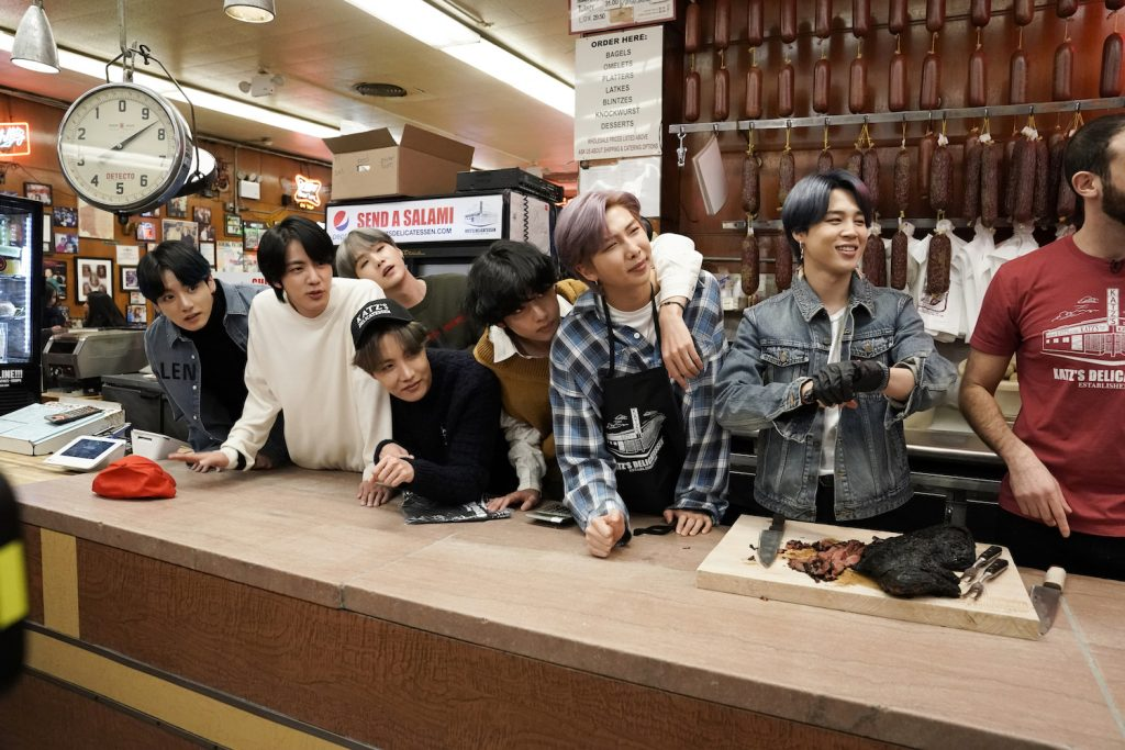 BTS members on 'The Tonight Show Staring Jimmy Fallon'
