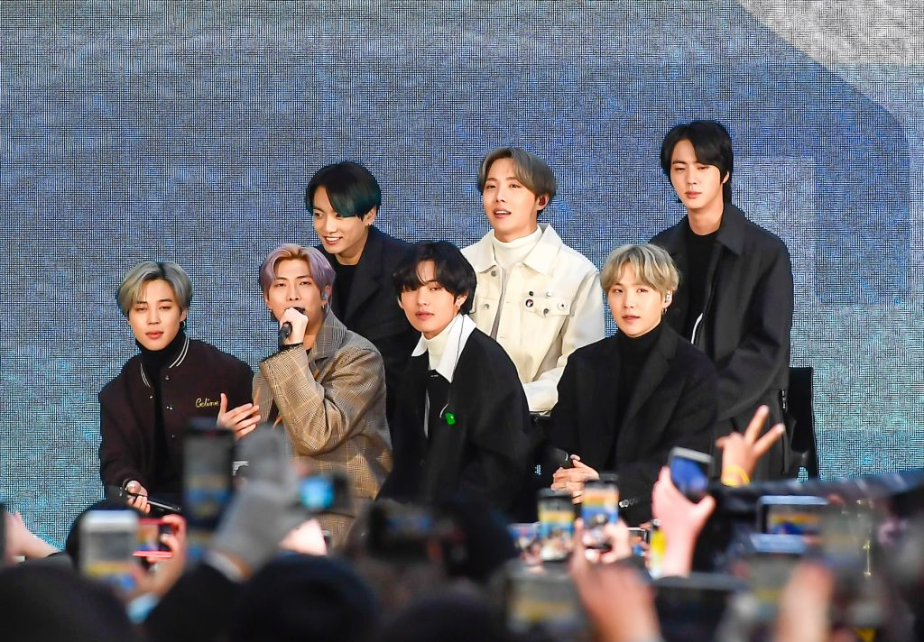 BTS seen at the 'Today Show'