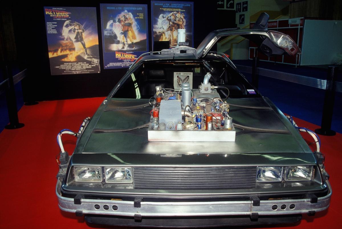The De Lorean DMC 12 Model from 'Back To The Future'