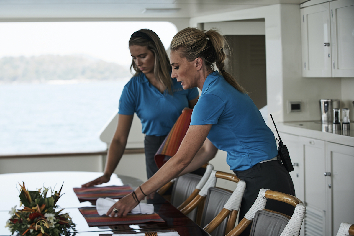 Courtney Skippon, Kate Chastain from 'Below Deck'