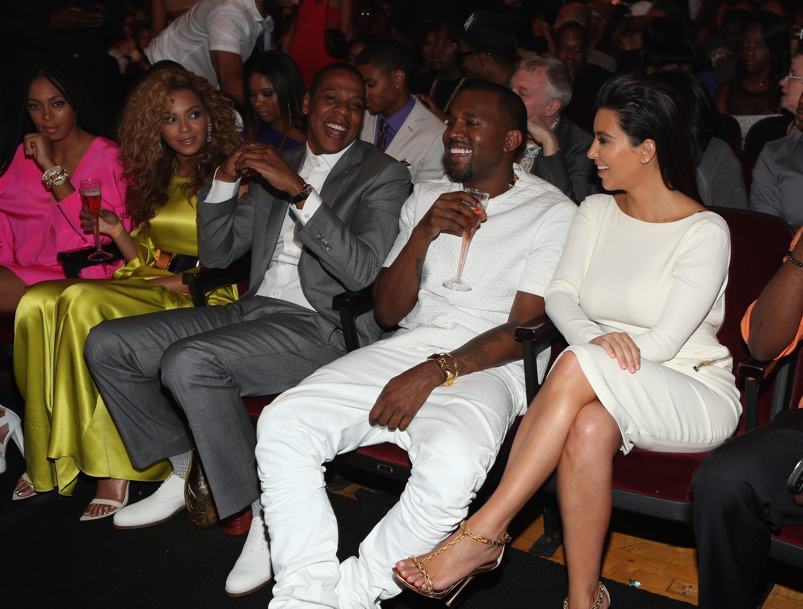 Beyoncé, Jay-Z, Kanye West, and Kim Kardashian West