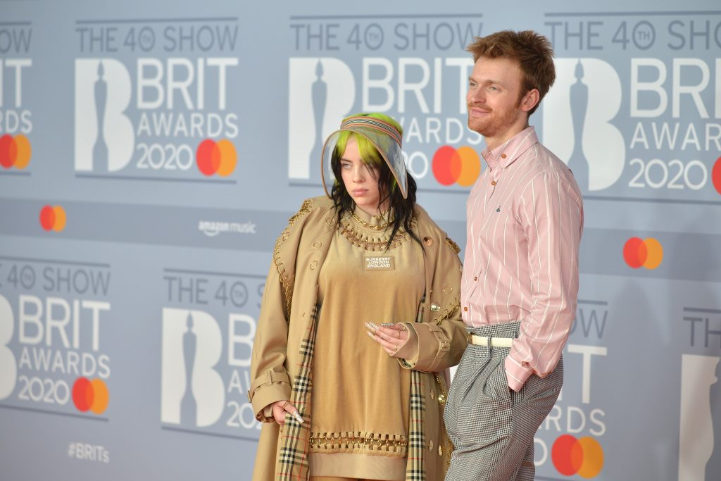 Billie Eilish and Finneas O'Connell attend The BRIT Awards 2020