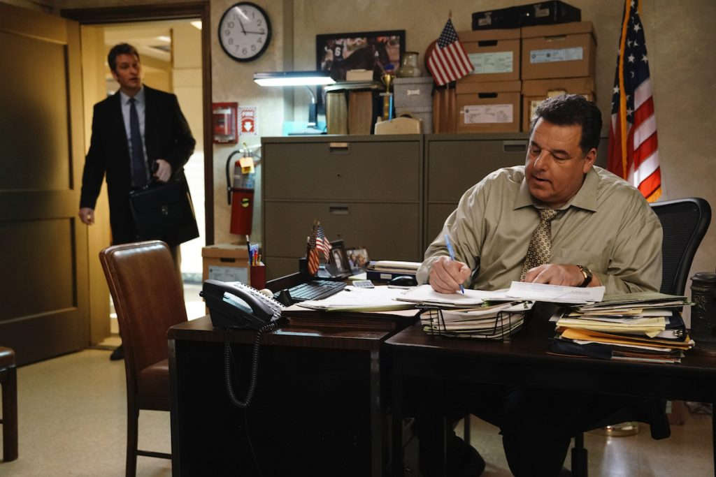 Peter Hermann as Jack Boyle and Steven Schirripa as Anthony Abetemarco on 'Blue Bloods'