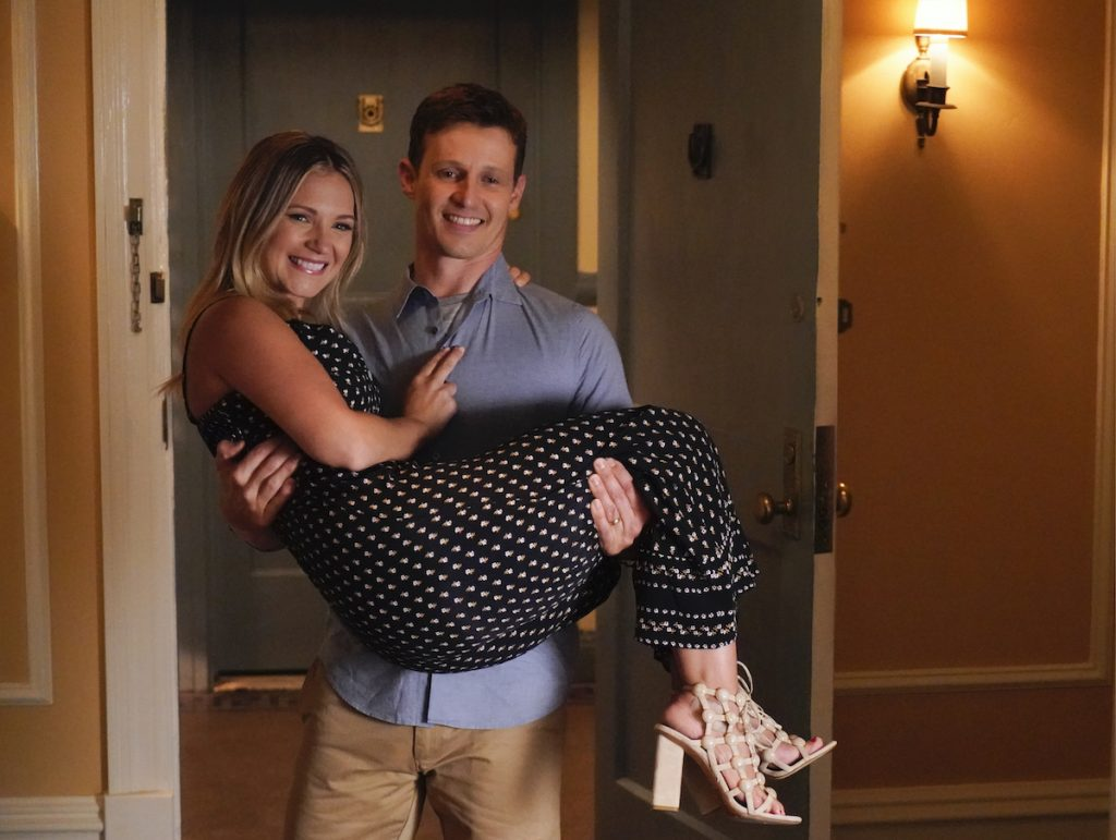 Will Estes as Jamie Reagan, Vanessa Ray as Officer Eddie Janko on 'Blue Bloods'