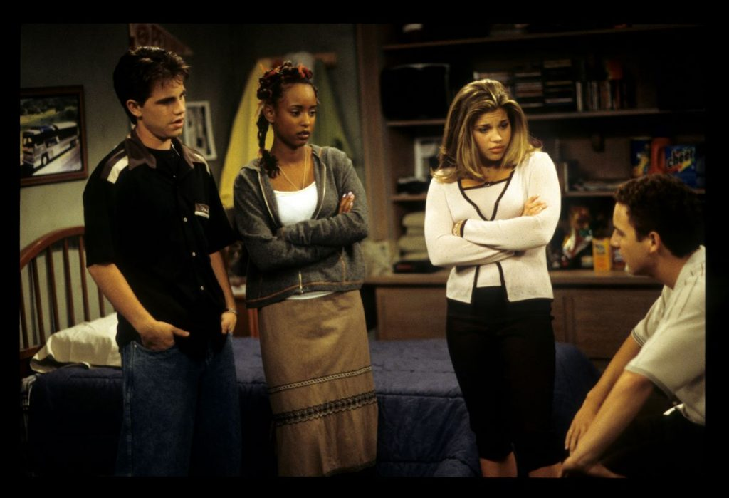 Rider Strong, Trina McGee, Danielle Fishel, and Ben Savage on 'Boy Meets World'