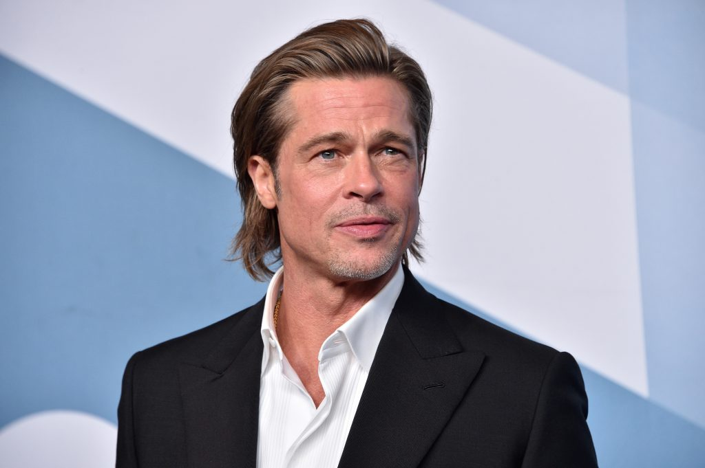 Brad Pitt poses in the press room during the 26th Annual Screen ActorsGuild Awards at The Shrine Auditorium
