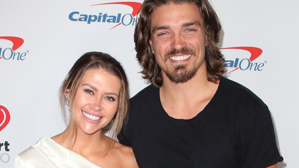 'Bachelor in Paradise' stars Caelynn Miller-Keyes and Dean Unglert attend KIIS FM's Jingle Ball 2019 presented by Capital One at The Forum on December 06, 2019 in Inglewood, California.