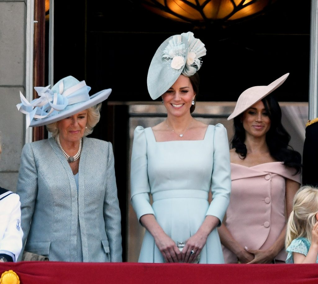 Camilla Parker Bowles, Kate Middleton, and Meghan Markle