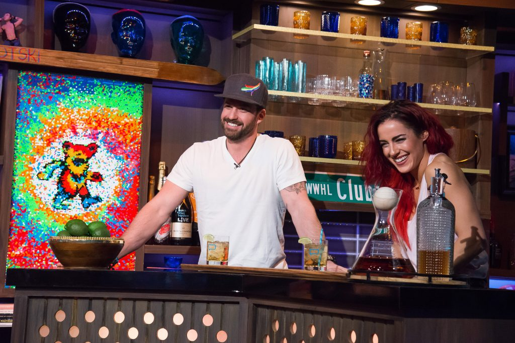 Johnny Bananas Devenanzio and Cara Maria Sorbello on 'Watch What Happens Live with Andy Cohen'