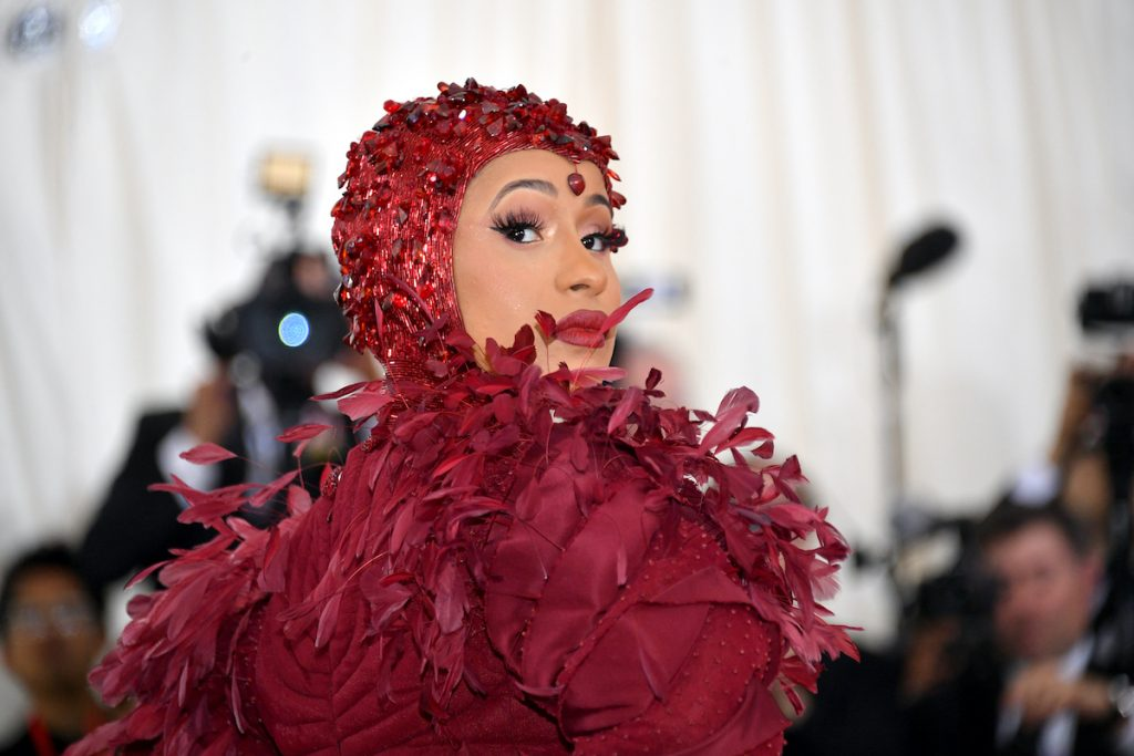 Cardi B on the red carpet