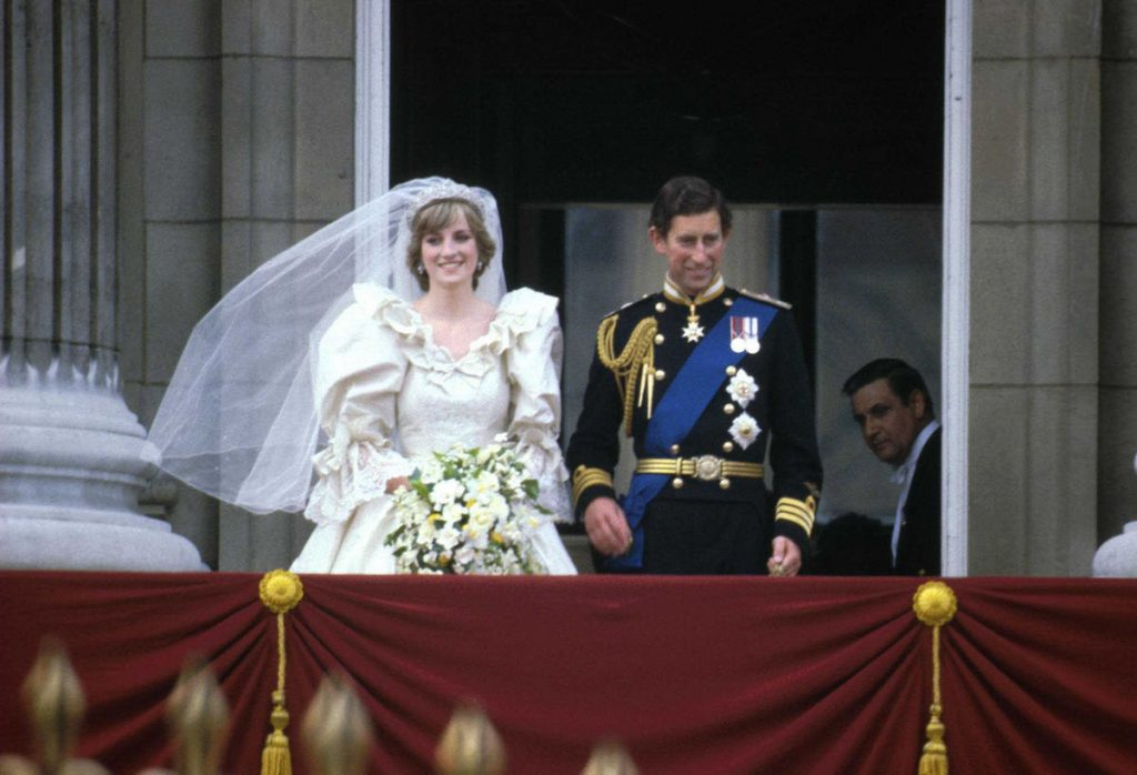 Prince Charles and Princess Diana on their wedding day in 1981.