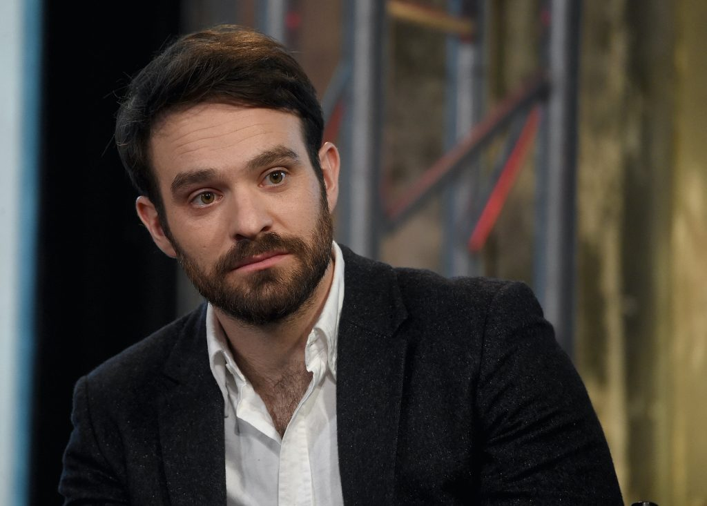 Charlie Cox, who plays Daredevil and could maybe play a role in the next 'Spider-Man' film, at the AOL Build Speakers