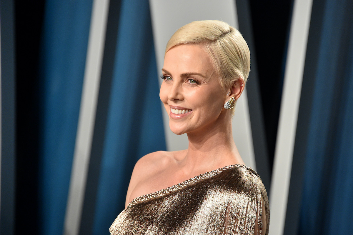 Charlize Theron at the 2020 Vanity Fair Oscar party