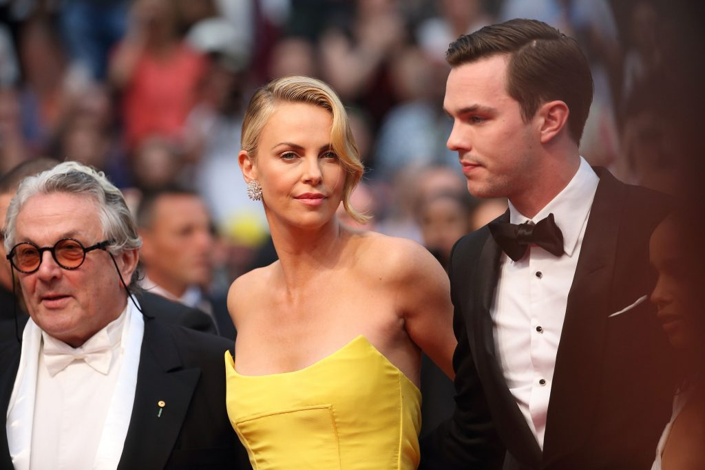 """Charlize Theron and Nicholas Hoult attend the """"Mad Max : Fury Road"""" Premiere"""