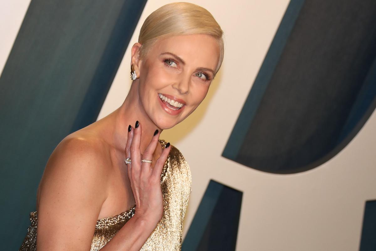 Charlize Theron at the 2020 Vanity Fair Oscar Party