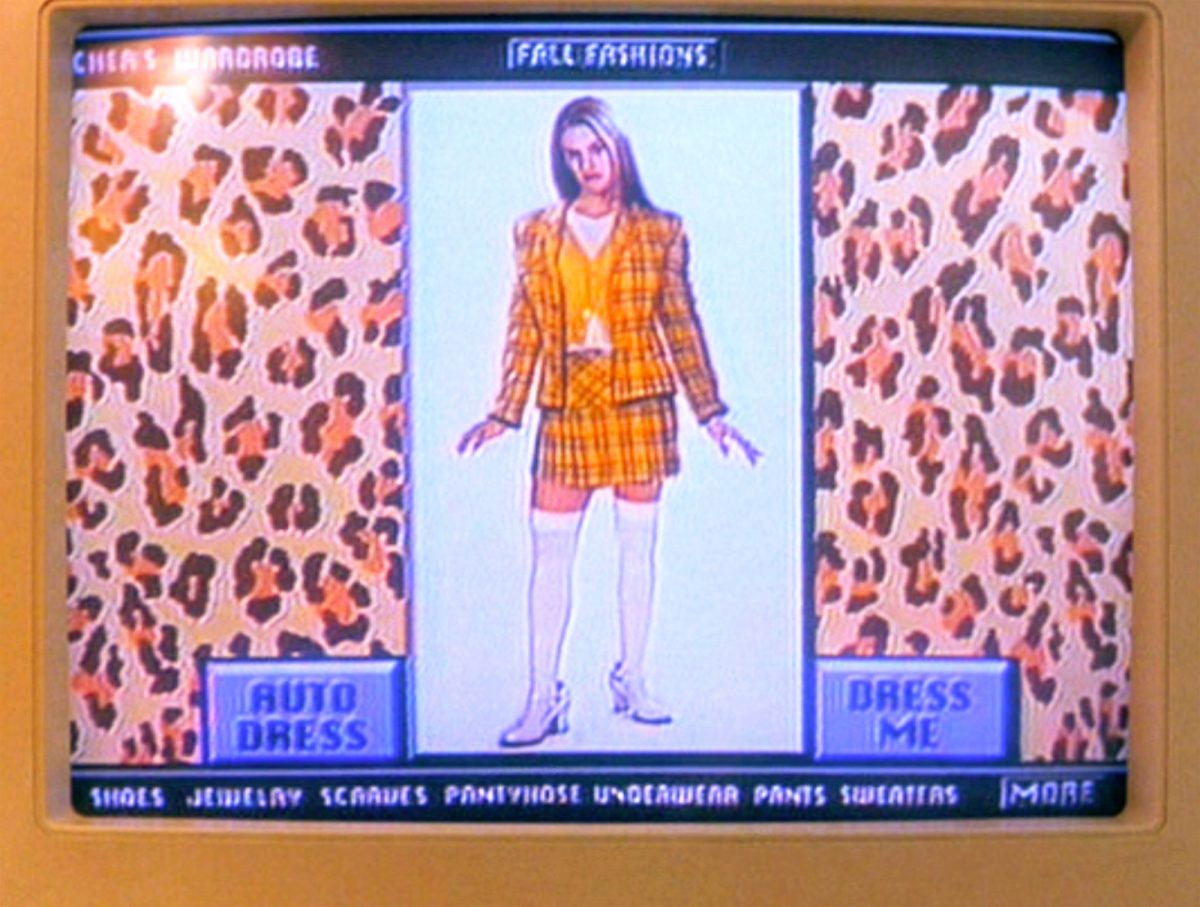 Cher's computerized closet in 'Clueless'