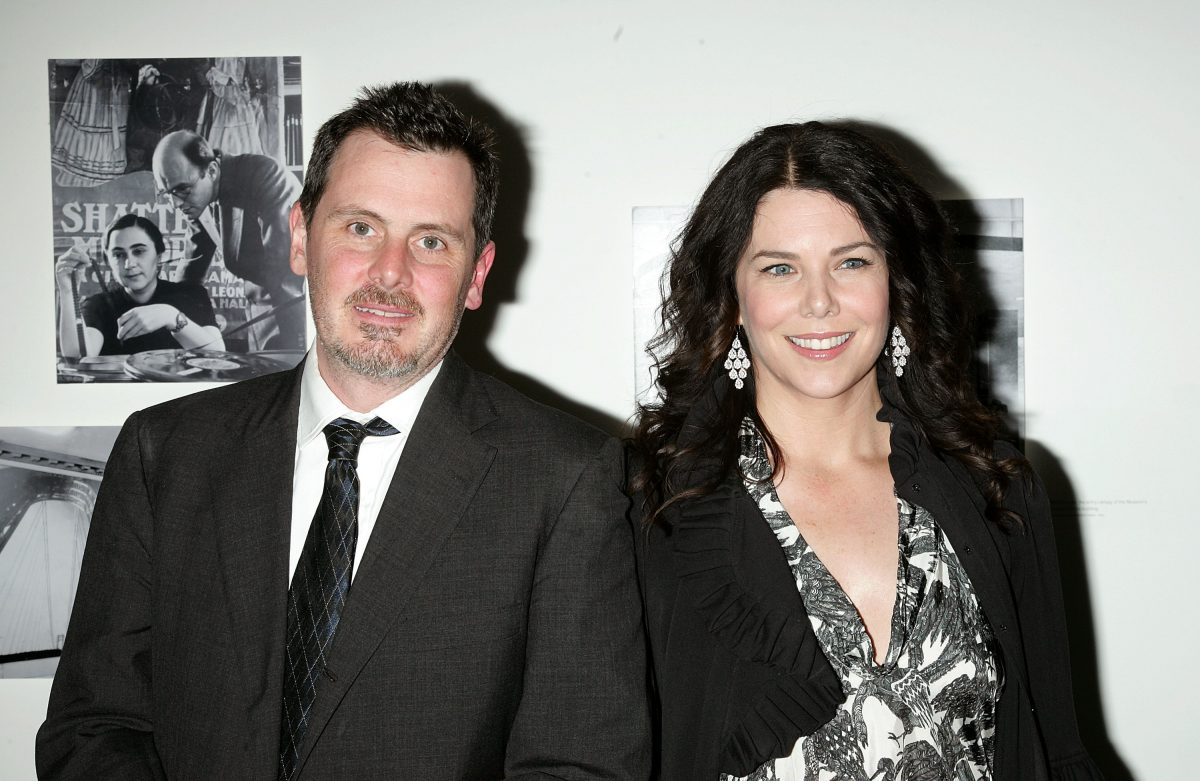 """Chris Eigeman and Lauren Graham arrive at the """"Turn the River"""" premiere at the Museum of Modern Art"""