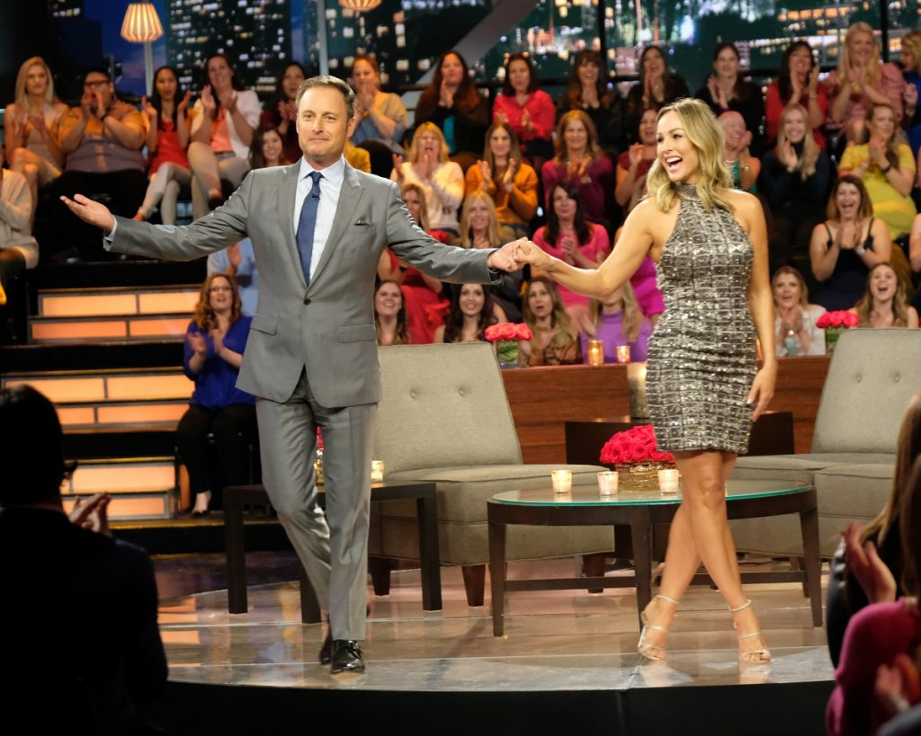 'The Bachelorette' star Clare Crawley with host Chris Harrison